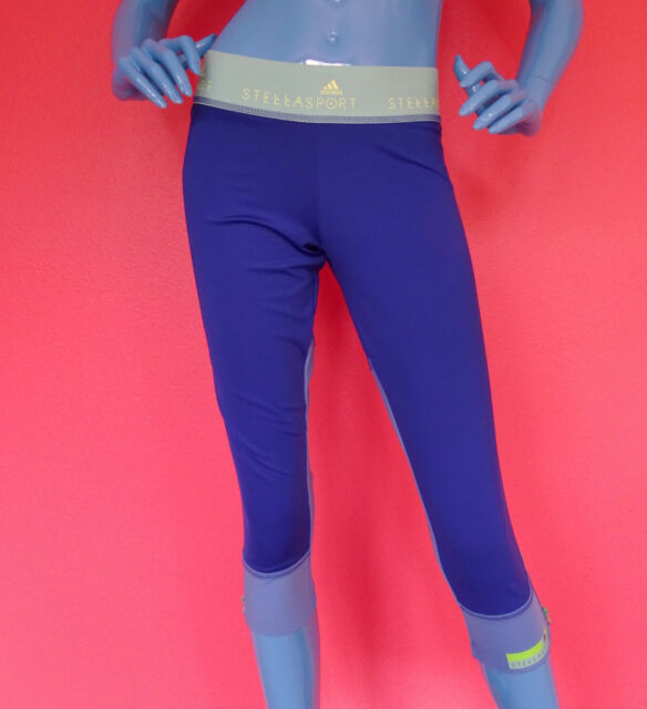 Adidas StellaSport Workout Tights Capri Pants M 8 10 12 Stella McCartney Gym New