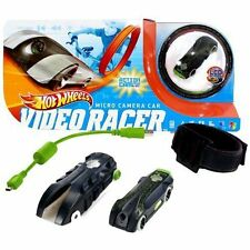 HOT WHEELS VIDEO RACER MICRO CAMERA CAR, BLACK AND GREEN, NEW IN UNOPENED BOX