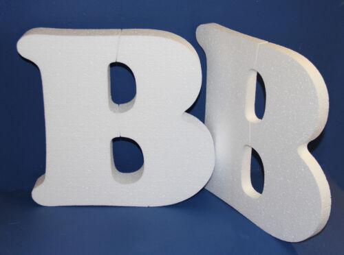 Mousse de polystyrène lettres haute densité 25 mm 50 mm de haut et court police différente
