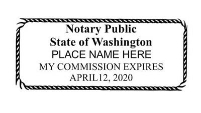 Self Inking Notary Public Stamp