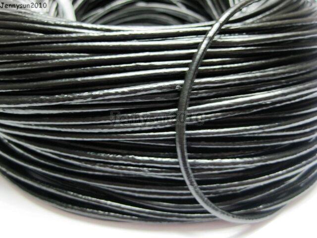 jennysun2010 1.5mm Dark Brown Top Quality Genuine Leather Cord Thread For Diy Bracelet Necklace Jewelry Making 10M Lead Free,Nickel Free