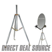 3ft. Universal Satellite Dish Antenna Rv Tripod 36 Inch X 1.66 Or 2 Od Mast