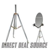 3ft. Universal Satellite Dish Antenna Rv Tripod 36 Inch X 1.66 Or 2 Od Mast