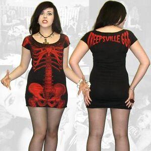 Kreepsville-666-skeleton-dress-black-with-red-skeleton-alternative-Gothic-wear
