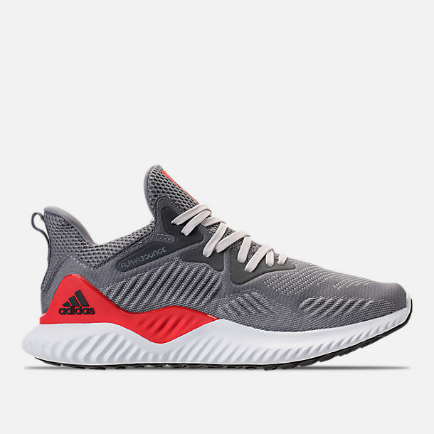MENS ADIDAS ALPHABOUNCE BEYOND GREY RUNNING SHOES MEN'S SELECT YOUR SIZE