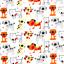 Telas-de-policotton-Tela-flamencos-Unicornios-Ladybirds-Perro-Gato-Conejo-Panda-pajaro-de-animales miniatura 9