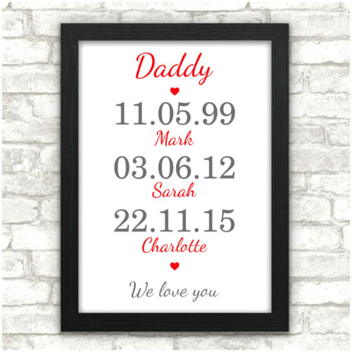 PERSONALISED Memorable Dates Gifts for Daddy Grandad Dad Fathers Day Gift