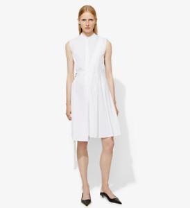 NWT-850-Proenza-Schouler-Sleeveless-Side-Wrap-Pleated-Poplin-Dress-Size-4