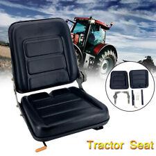 Black Tractor Seat With Back Rest Waterproof Lawn Mower Garden Tractor Utv Atv