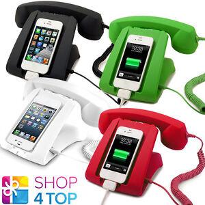 Image Is Loading Retro Handset Dock Desk Smartphone Mobile Cell Phone