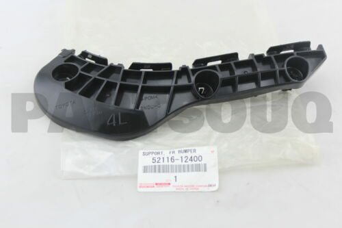 LH 52116-12400 5211612400 Genuine Toyota SUPPORT FRONT BUMPER SIDE