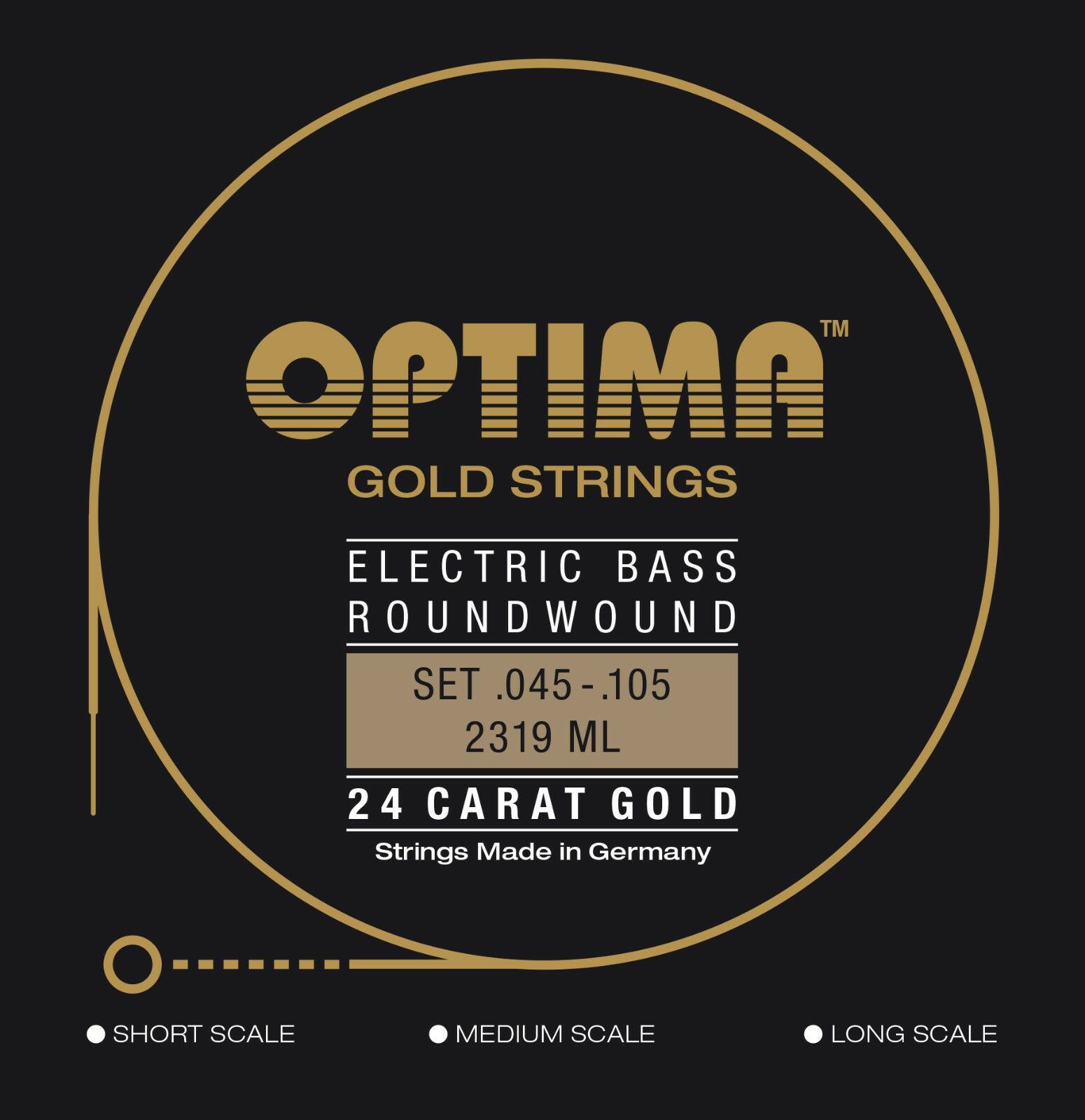 Optima 24 K Gold Bass Strings 45-105 - BG2319 BG2319 BG2319 4450e9