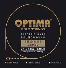 Optima 24 K Gold Bass Strings 45-105 - BG2319
