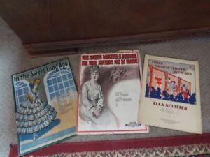 1916-34 Mother's Son in France WWI Ketterer Juggler Banjo Song + Sheet Music Lot