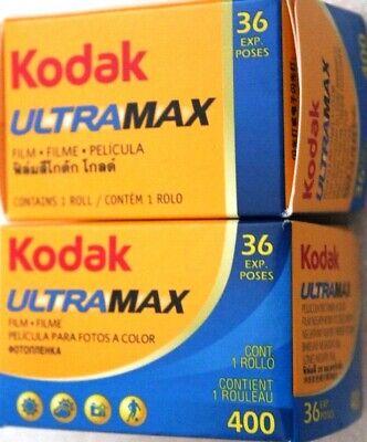 Pellicules photo couleur 400 iso asa 24x36 Kodak Lot de 3 2018 stock France