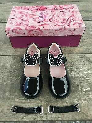 """Size 9/26 F Fit Kids' Clothing, Shoes & Accs Amiable New Lelli Kelly """"ellie"""" Black Patent Leather School Shoes"""