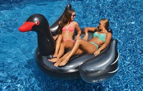 Swimline Géant Gonflable Ride Sur Noir Swan Piscine Flotteur Jouet Nager Raft