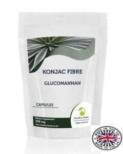 Konjac-Fibre-500mg-Glucomannan-1000-Capsules-Pills-Supplements