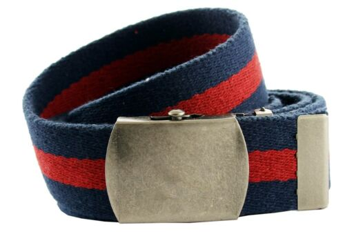 "Premium Striped Cotton Fabric Belt 1-1//2/"" Wide"