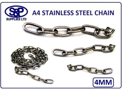 4 mm en acier inoxydable chaîne, anti-corrosion St/acier A4 GR316 ST/ST Marine Grade