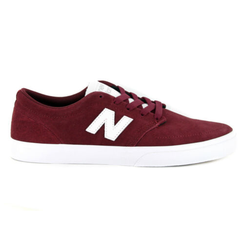 """Burgundy//White Men/'s Skating Shoes New Balance # Numeric /""""345/"""" Sneakers"""