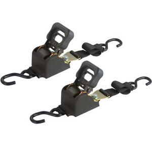 Retractable Ratchet Straps >> Details About 2 Pack 72 Retractable Ratchet Strap Tie Down Boat Marine Hunt