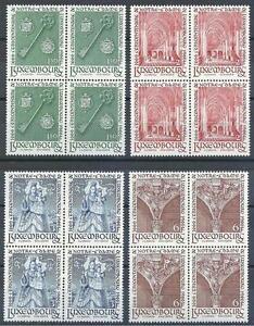 LUXEMBOURG-1966-Sc-436-39-Set-de-Notre-Dame-blocs-4-neuf-sans-charniere