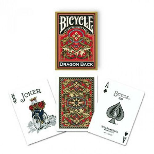 DRAGON BACK BICYCLE DECK GOLD EDITION PLAYING CARDS POKER SIZE MAGIC TRICKS