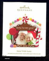 Hallmark 2011 Sittin' With Santa Photo Holder Ornament NIB