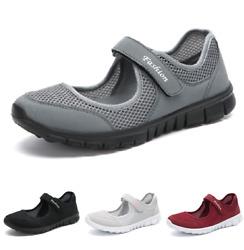 Damen Gesundheitsschuhe Strick Atmungsaktiv Memory Foam Loafer Wandern Laufen B