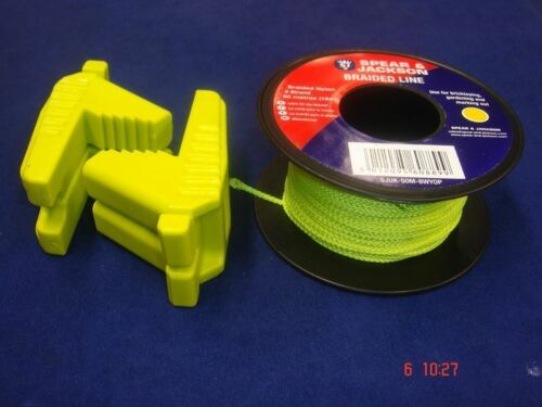 Pair of Spear /& Jackson Bricklayer/'s Rubber Line Blocks WITH Green Line