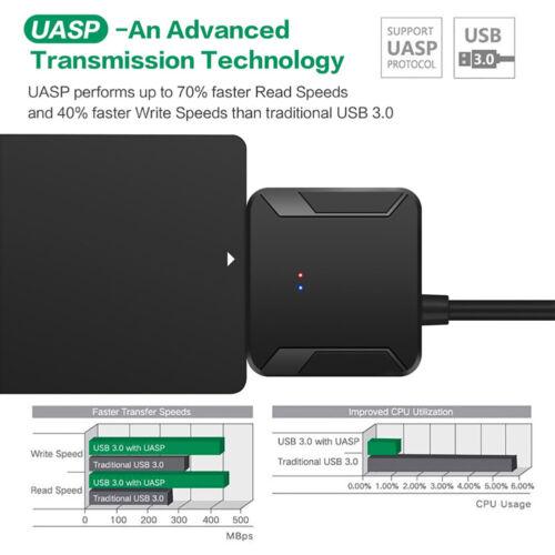 AG/_ USB 3.0 to IDE SATA S-ATA 2.5 3.5 HD HDD Hard Drive Adapter Converter Cable