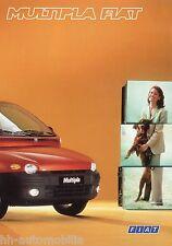 Prospekt Fiat Multipla 4/98 Autoprospekt 1998 Broschüre broschyr brochure Auto