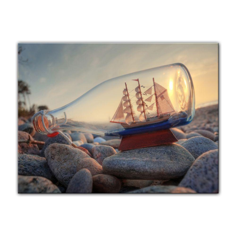 Dans l'attente de la ville, retenant votre votre votre souffle Toile-Bouteille de navire-bateau en bouteille IV fc6029
