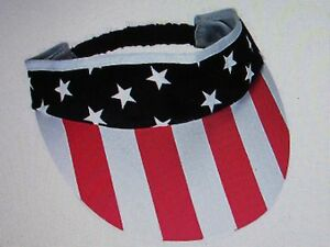 523c7d38557 6 SUN VISORS Patriotic stars   stripes USA visor FLAG DAY 4th of ...