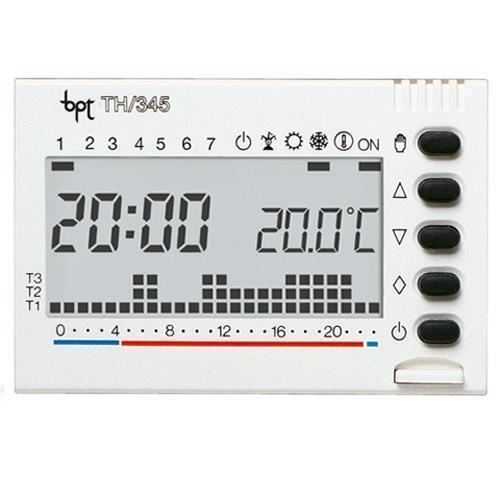 BPT TH345BI CRONOTERMOSTATO DIGITALE SETTIMANALE INCASSO 3X1,5 AAA BPT TH345BI