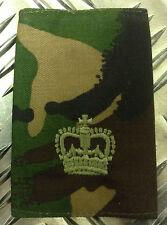 Genuine British Army Woodland Camouflage MAJOR Rank Slide / Epaulette - NEW