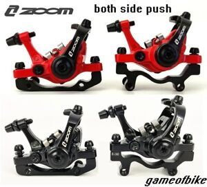 ZOOM-MTB-road-FR-Bike-Mechanical-Disc-Brakes-Calipers-Front-Rear-Both-sides-push