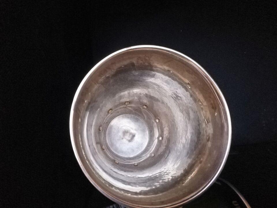 Pokal/vase tretårnet sølv