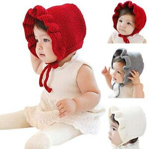 aad39092e Details about Cute Lovely Baby Hats Winter Outdoor Warm Hats Baby Girls  Hats Caps Earmuffs Hat