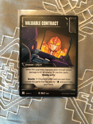 Brand New Transformers TCG Valuable Contract Rare Battle Card  R062//064 Wave 4