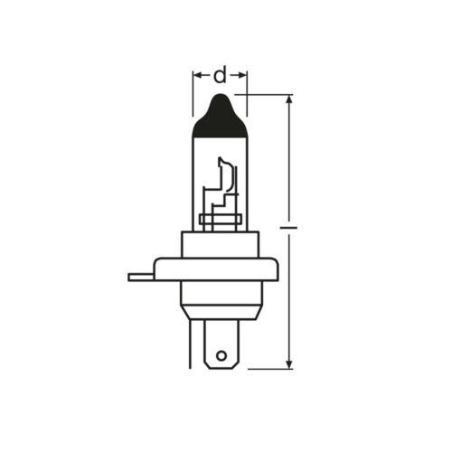2x H4 100w Super Blanco Xenon Actualización Principal Hid Alta//Baja Dip Haz Headlight Bulbs
