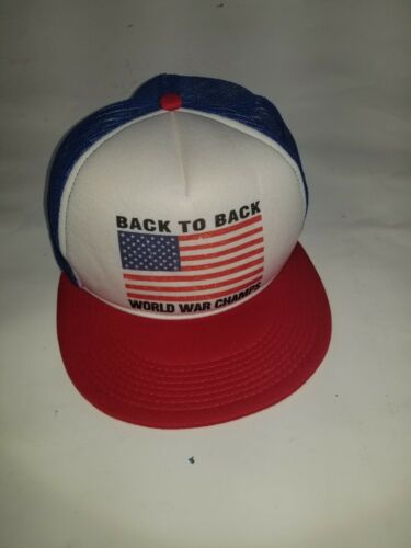 Back To Back World War Champs Champions Hat Cap