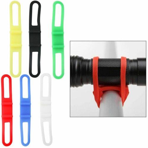 Handlebar Phone Light Holder Bandages Fixing Elastic Silicone Strap Bike