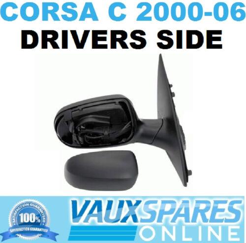 CORSA C NEW ELECTRIC BLACK WING MIRROR DRIVERS OFF SIDE SXI CDTI DESIGN LIFE ETC