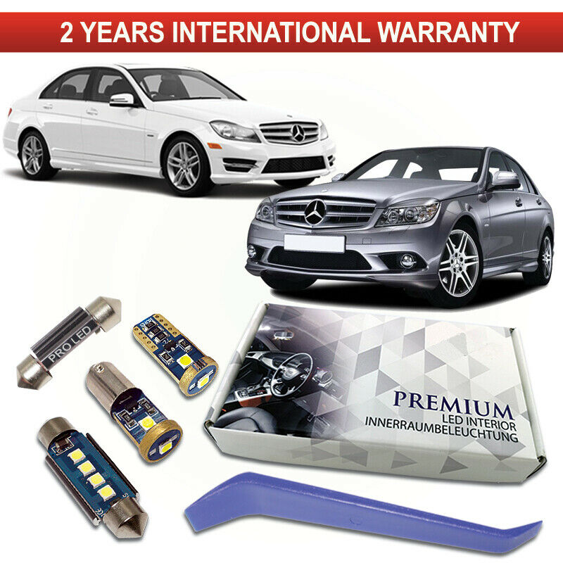 Details about Mercedes W204 LED Interior Kit Premium 16 SMD Bulbs White  Error Free C204