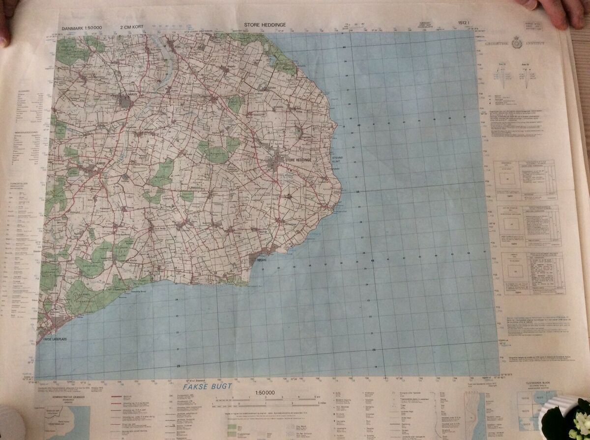 Landkort Geodaetisk Institut Dba Dk Kob Og Salg Af Nyt Og Brugt