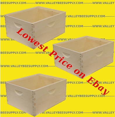 "Free shipping 10 Frame Unassembled Deep Hive Bodies /""3 pack/"""
