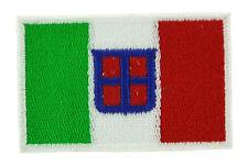 Parche bandera PATCH bordado termoadhesivo ITALIA MARINA REINO italiano