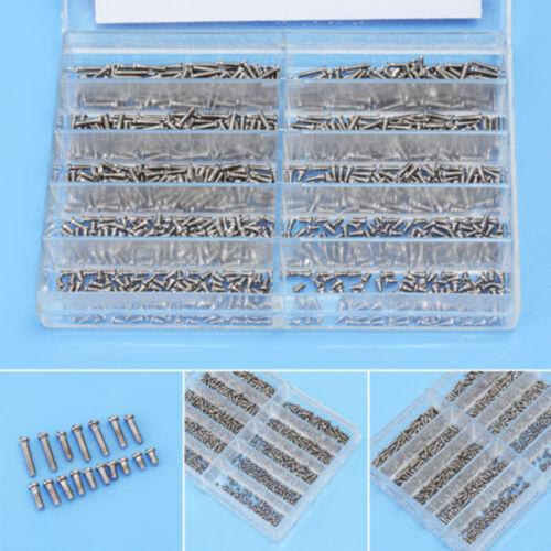 1000pcs petite vis écrou Tournevis Montre Lunettes Lunettes Réparation Outil avec boite